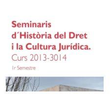 Programa de seminarios del Grupo de Historia del Derecho de la Cátedra