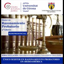 III edició del Màster en Raonament Probatori: oberta la preinscripció